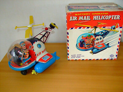 Air Mail Helicopter in OVP, made in Japan by Yoshija (KO), sehr guter Zustand