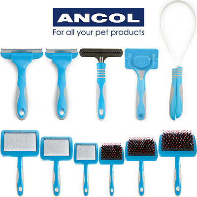 Ancol Ergo Dog Grooming Slicker Brush Rake Hedgehog Shedmaster Lint Roller