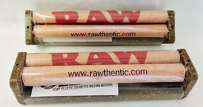 2 New RAW 110mm Cigarette Roller Rolling Machine Hemp Plastic King Size Papers