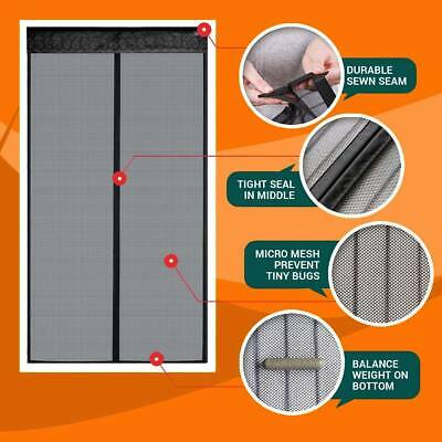 72*80 Inch Magnetic Screen Door - Full Frame Fits Up To Easy installation HOT