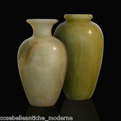 Pair Of Vases In Onyx Green Green Onyx Vase Centerpieces Classic