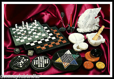 Chess boards Mortars Sculptures Ashtrays in Marble Set