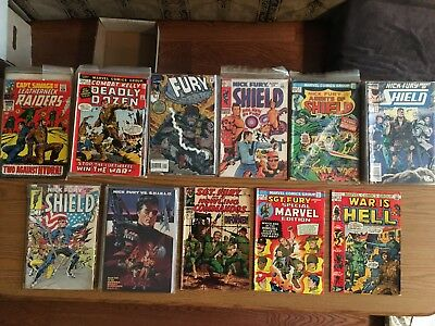 99 issues Marvel Comics   War is Hell  Fury  Shield  Capt.Savage  Combat Kelly