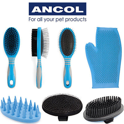 Ancol Ergo Dog Grooming Brush Pad Massage Glove Pin Bristle Lint Roller