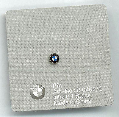BMW PIN LOGOTIPO EMBLEMA 5mm Acristalada con original BMW cartonage