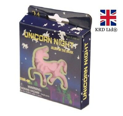 24x UNICORN GLOW IN THE DARK STICKERS Ceiling Wall Girls Room Decor Party Filler