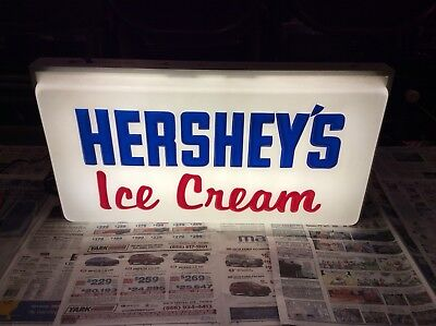 Michigan Man Cave Signs : Vintage hershey's ice cream light up advertising sign man cave super