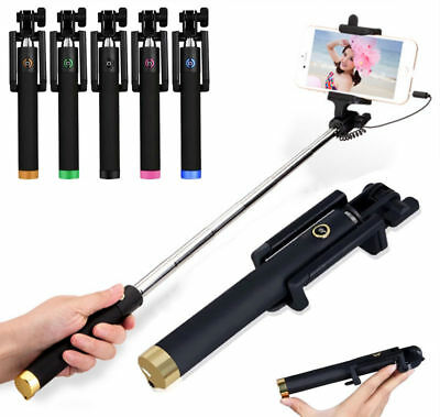 Extendable Wired Remote Mobile Phones Holder Selfie Stick Monopod