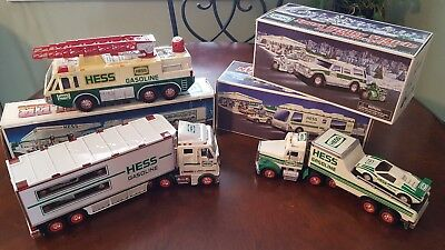 Lot of 6 Hess Trucks 1991 1992 1996 1998 2003 2004 Collectible Toys Sets