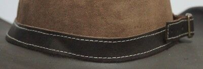 Leather Hat Band Fully Adjustable for All Styles of Hats Brown 73 cm