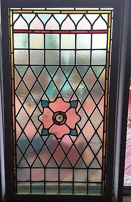 Vintage & Beautiful Stained Glass Window - Late 1800s