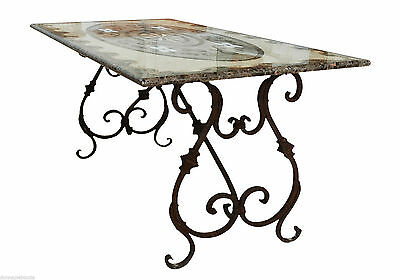 Table with Intarsi in Marble Furniture Style Classic Antiques Inlays