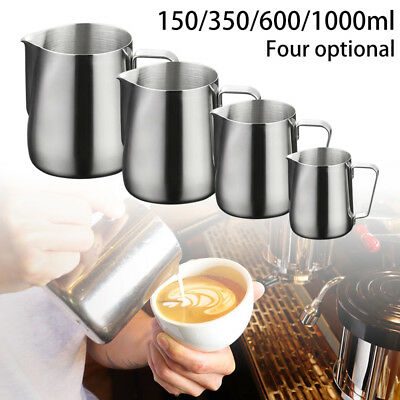 150/350/600/1000ml Stainless Steel Frothing Coffee Milk Pitcher Jug Foam Cup New