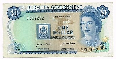 1970 BERMUDA ONE DOLLAR NOTE - p23a
