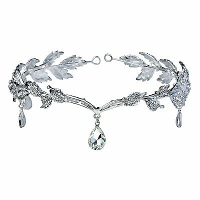 Remedios Elegant Rhinestone Leaf Wedding Headpiece Headband Bridal Tiara Crown