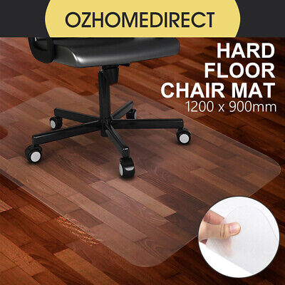 NEW Carpet Floor Office Work Chair Chairmat Protector Plastic PVC 1200x900mm