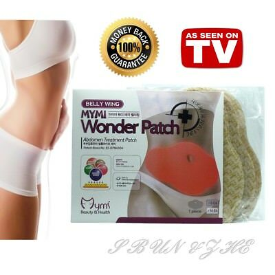Authentic 5pc Mymi Wonder Patch Belly Wing Slimming Weight Loss Abdomen Fat Burn