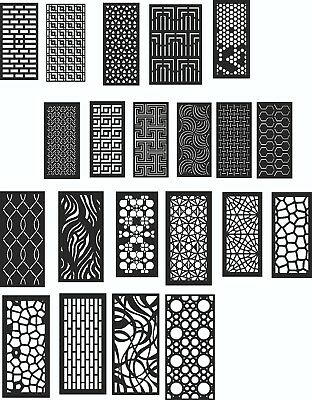 DXF of Laser Cut -CNC Vector DXF-CDR - AI  Art file 20 ITEMS