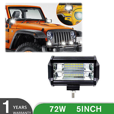 72W SPOT LED Off road Work Light Lamp 12V 24V car boat Truck Driving ATVs 6000K