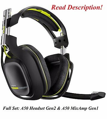 Astro Gaming A50 GEN2 Wireless Gaming Headset Xbox One PS4 PS3 PC Xbox 360 Green