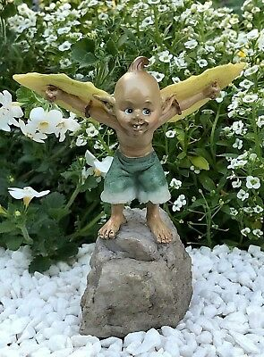 Miniature FAIRY GARDEN Figurine ~ Pixie Ready for Take Off ~ NEW
