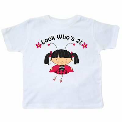 1b7484ba Inktastic 2nd Birthday With Ladybug 2 Year Old Girl Toddler T-Shirt Second  Kids