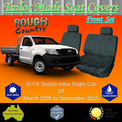100% Canvas Seat Covers for Toyota Hilux Single Cab; 03/2005 - 09/2015