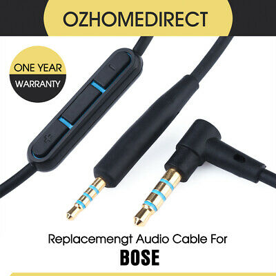 Cable Remote Mic F/ Bose QuietComfort QC25 QC35 Link Headphone Android Phone