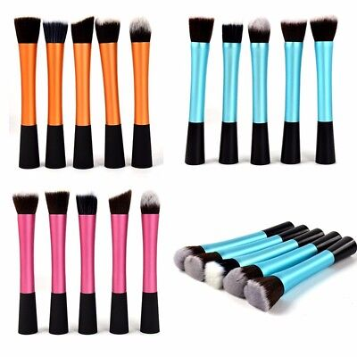 5Pcs Real Techniques Makeup Brushes Foundation Expert Face Powder Starter Blush