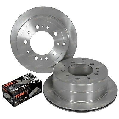 Rear Brake Disc Rotors + Pads suits Landcruiser HDJ100 UZJ100 98~07 100 Series