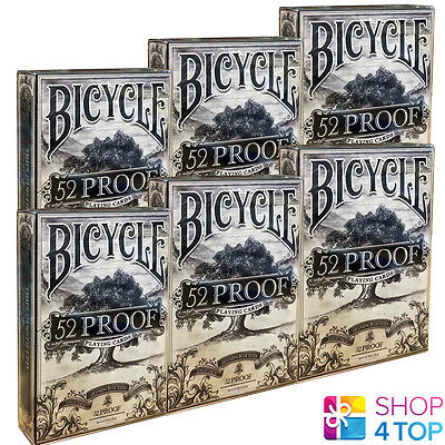 6 Decks Ellusionist 52 Proof Prohibition V2 Playing Cards Magic Bicycle Tricks