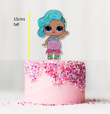 15cm Large Glitter LOL Dolls Edible Wafer Cake Cupcake Toppers Decorations  #288