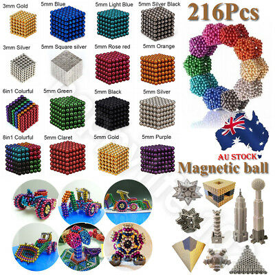 216X 3/5mm 3D Magic Magnet Magnetic DIY Balls Sphere Neodymium Cube Luxury Beads