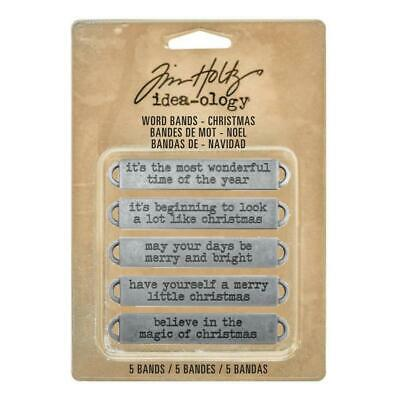 Tim Holtz Idea-Ology - Word Bands Christmas - 5 Pieces