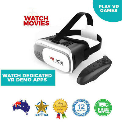 Virtual Reality Headset VR Display with Remote Bluetooth Controller VRBox Kit ve