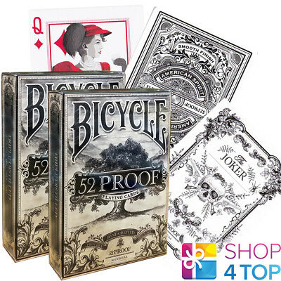2 Decks Ellusionist 52 Proof Prohibition V2 Playing Cards Magic Bicycle Tricks