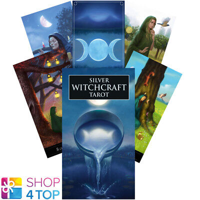 Silver Witchcraft Tarot Deck Cards Esoteric Telling Lo Scarabeo New