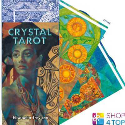 Crystal Tarot Deck Cards Esoteric Fortune Telling Lo Scarabeo New