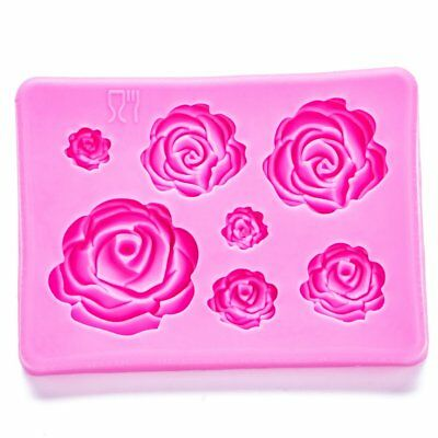 Mould Silicone Flowers Roses Cake Cupcake Mold Icing Fondant *UK Seller*