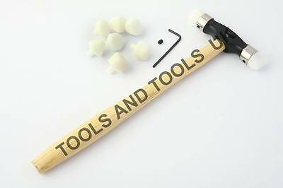 Jeweler's Planishing Nylon Head/ Face Hammer Jewelry Making REPOUSSE With 9 Tips