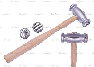 Texturing Hammer Double Sided Stripe/ Weave Jewelry Crafts Metal Smith REPOUSSE