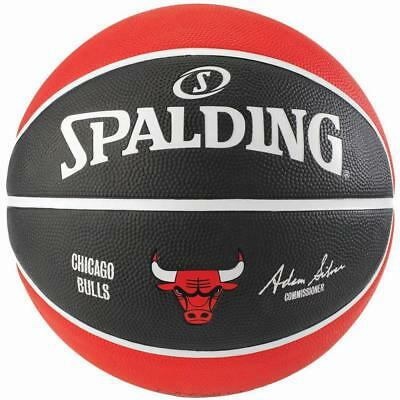 Chicago Bulls Basketball Size 7 For Outdoor From Spalding