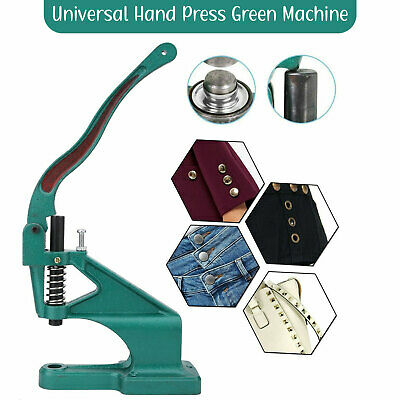 Hand Press Universal Green Machine for Studs Rivets Buttons Tool Arts & Crafts