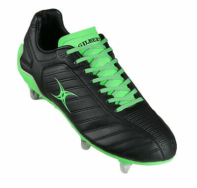 Clearance Line New Gilbert Evolution MK 2 Junior Rugby Boots  Black Green Size 4