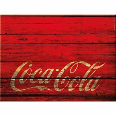 NEW Coca-Cola Glass Chopping Board Retro Red Wood Look Cutting Worktop Saver