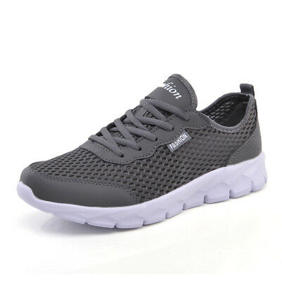 Men Casual Shoes Breathable Lace-Up Mesh Lightweight Comfortable Lovers Footwear