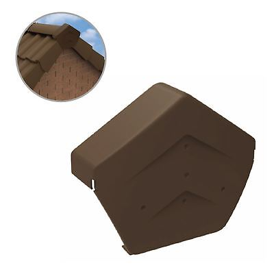 Brown Angled Ridge End Cap for Dry Verge Systems, Gable Apex Roof Tiles