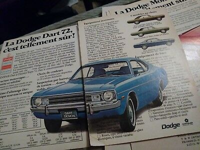 lot 7 ads dodge demon chrysler plymouth 300 monaco newport canadian french 70