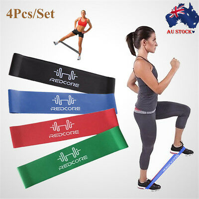 Heavy Duty Resistance Band Training Loop Power GYM Fitness Exercise Yoga Workout
