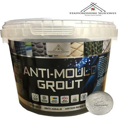 Silver Grey Anti mould grout, Flexible, Water resistant, Wall or floor tiles